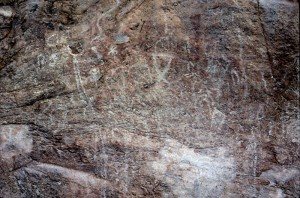 Marc Severson photograph of some of the petroglyphs at Picture Rock.