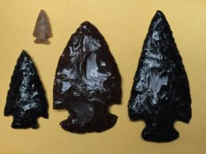 Some projectile points made by flintknapping class instructor Sam Greenleaf.